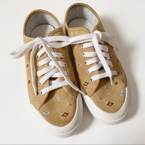 Rag & Bone Tan Embroidered Standard Issue sneakers